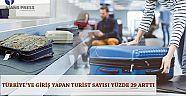 Türkiyeye giriş yapan turist sayısı yüzde 29 arttı