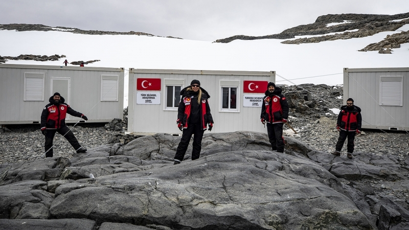 Turkije heeft een tijdelijke basis op Antarctica