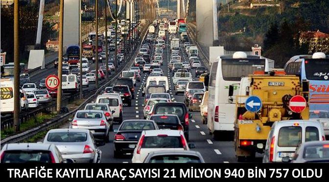 Türkiye'de Trafiğe Kayıtlı Araç Sayısı 21 Milyon 940 Bin 757 Oldu