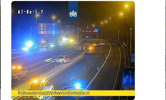 Zaandam'da iki otomobil çarpıştı: 5 yaralı